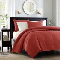 Madison Park Quebec King/California King Coverlet Mini Set in Red