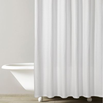 Kassatex Honeycomb Shower Curtain In White