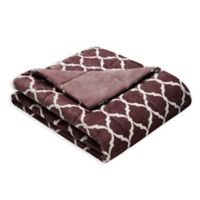 Madison Park Ogee Oversized Throw Blanket in Purple