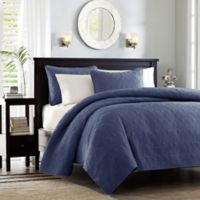 Madison Park Quebec King/California King Coverlet Mini Set in Navy