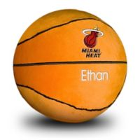 Designs by Chad and Jake NBA Miami Heat Personalized Plush Basketball
