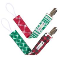 Ziggy Baby™ 2-Pack Holiday Lodge Pacifier Clips