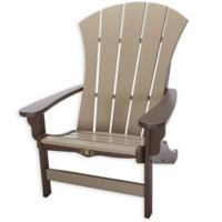 Pawleys Island® All-Weather Durawood® Sunrise Adirondack Rocker in Chocolate/Weatherwood