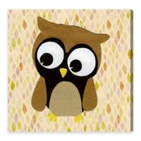 Olivia's Easel 20-Inch x 20-Inch Owl Canvas Wall Art