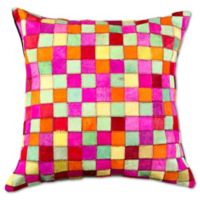 Torino Multipatch 18-Inch Square Throw Pillow in Orange/Multicolor