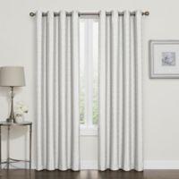 Darcy 84-Inch Room-Darkening Grommet Top Window Curtain Panel in White