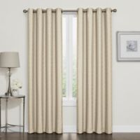 Darcy 108-Inch Room-Darkening Grommet Top Window Curtain Panel in Linen