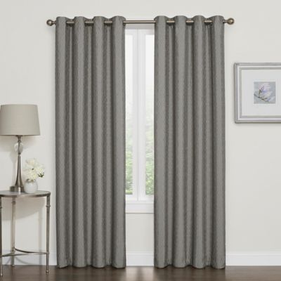 Darcy 63 Inch Room Darkening Grommet Top Window Curtain Panel In Grey