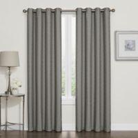 Darcy 108-Inch Room-Darkening Grommet Top Window Curtain Panel in Grey