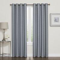 Darcy 84-Inch Room-Darkening Grommet Top Window Curtain Panel in Slate