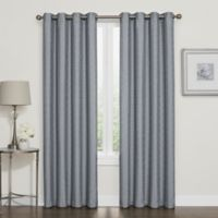 Darcy 120 Inch 100 Blackout Grommet Top Window Curtain Panel In Slate