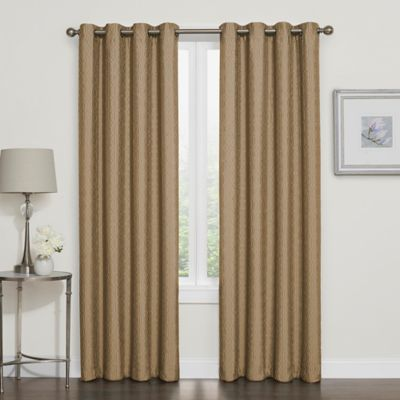 Darcy 63 Inch Room Darkening Grommet Top Window Curtain Panel In Gold