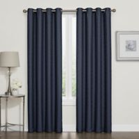 Darcy 84-Inch Room-Darkening Grommet Top Window Curtain Panel in Navy