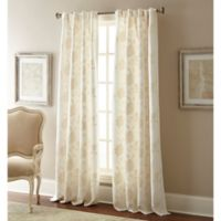 Jaylynn 84-Inch Rod Pocket Embroidered Window Curtain Panel in Natural