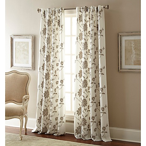 Jaylynn Rod Pocket Embroidered Window Curtain Panel Bed Bath Beyond