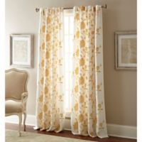 Jaylynn 108-Inch Rod Pocket Embroidered Window Curtain Panel in Gold