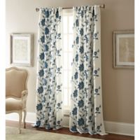 Jaylynn 108-Inch Rod Pocket Embroidered Window Curtain Panel in Teal