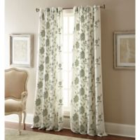 Jaylynn 108-Inch Rod Pocket Embroidered Window Curtain Panel in Spa