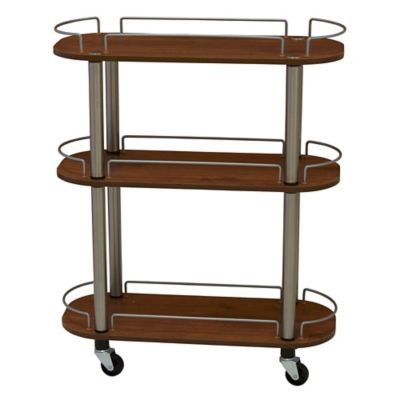 Household Essentials® 3 Shelf Utility Cart In Medium Walnut