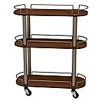 Household Essentials® 3-Shelf Utility Cart in Medium Walnut