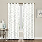 Brielle Embroidery 63-Inch Grommet Top Window Curtain Panel in Blue
