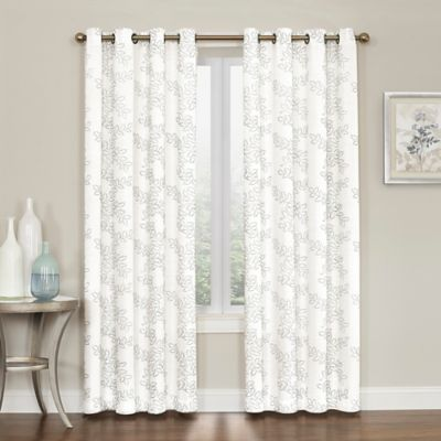 Square Grommet White Curtain Panels Bed Bath Beyond