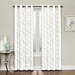 Brielle Embroidery 84-Inch Grommet Top Window Curtain Panel in Grey