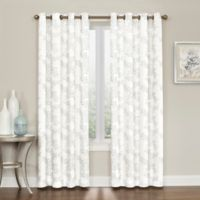 Brielle Embroidery 108-Inch Grommet Top Window Curtain Panel in Grey