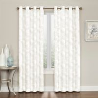 Brielle Embroidery 84-Inch Grommet Top Window Curtain Panel in Natural