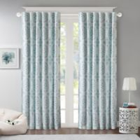 Regency Heights Penelope Medallion Room-Darkening 63-Inch Window Curtain Panel in Turquoise