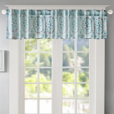 Regency Heights Penelope Medallion Window Valance In Turquoise