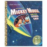 """""""Mickey Mouse And His Spaceship"""" Little Golden Book by Jane Werner"""