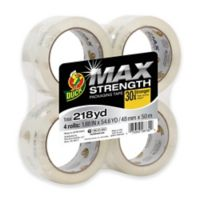 Duck® MAX Strength 54.6-Yard Packaging Tape 4-Pack