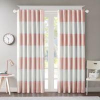 Regency Heights Maddie Stripe 63-Inch Rod Pocket/Back Tab Window Curtain Panel in Pink
