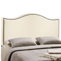 Modway LexMod Curl Full Nailhead Upholstered Headboard in Ivory