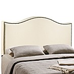 Modway LexMod Curl King Nailhead Upholstered Headboard in Ivory