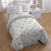 Disney® Minnie Twin/Full Comforter in Gold Dots