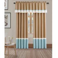 Ulema Window Valance in Ivory/Blue