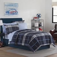 Ethan 8-Piece Full Comforter Set in Grey/Blue