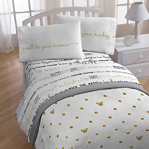 Disney 174 Minnie Sheet Set Bed Bath Amp Beyond