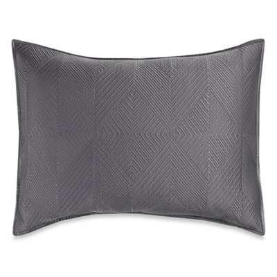 wamsutta bliss king pillow sham in frost grey