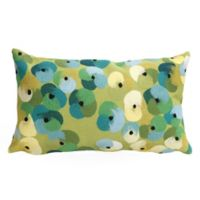 Liora Manne Visions II Pansy Lumbar Rectangular Indoor Throw Pillow in Lime Green