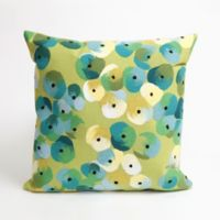 Liora Manne Visions II Pansy Lumbar Shape Indoor Throw Pillow in Lime Green