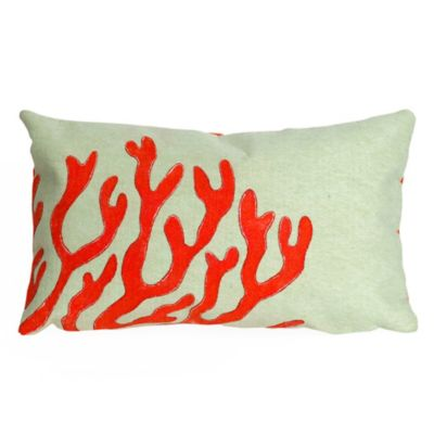 liora manne viisions ii coral rectangular throw pillow in red