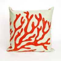 Liora Manne Visions II Coral Throw Pillow