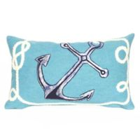Liora Manne Visions II Marina 12-Inch Lumbar Pillow in Aqua