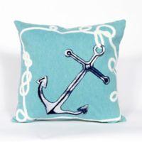 Liora Manne Visions II Marina 20-Inch Throw Pillow in Aqua