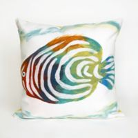Liora Manne Rainbow Fish 20-Inch x 20-Inch Indoor/Outdoor Throw Pillow in Pearl