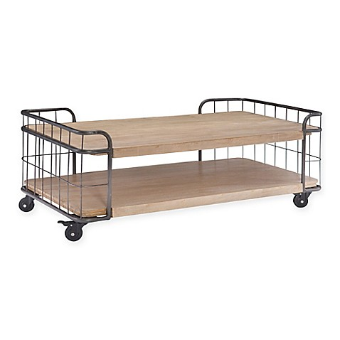 Moe 39 S Home Collection Circa Coffee Table In Solid Acacia Wood Bed Bath Beyond