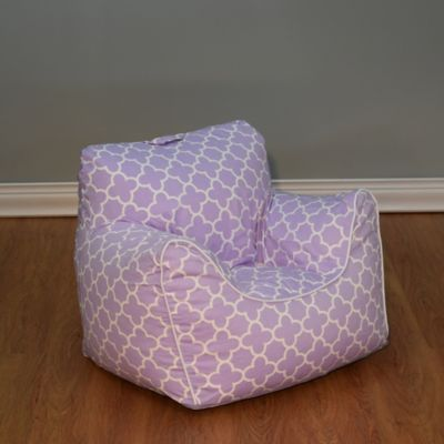 Structured Bean Bag Chair With Removable Cover In Lavender
